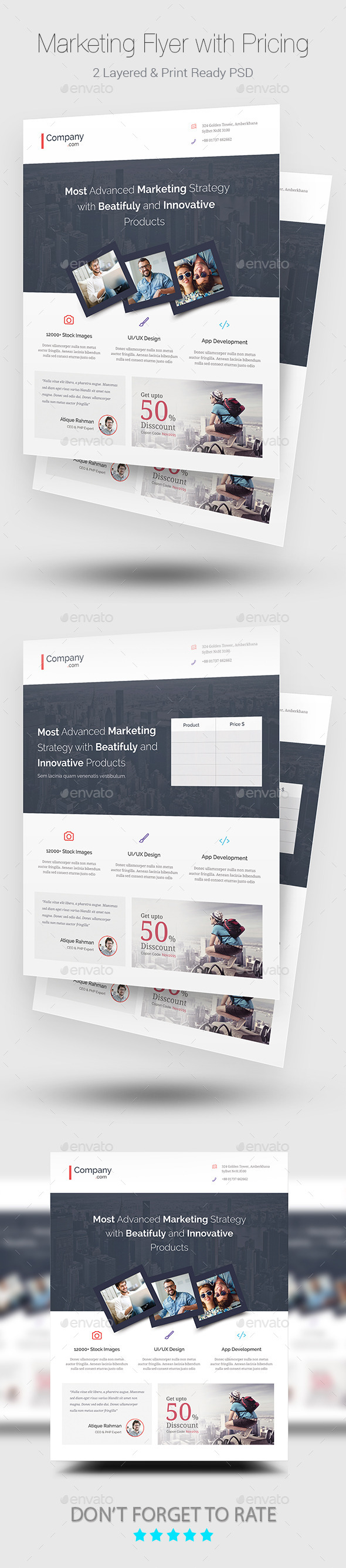GraphicRiver Marketing Flyer with Pricing Table 11529473