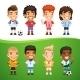 Cartoon International Soccer Players Set - GraphicRiver Item for Sale