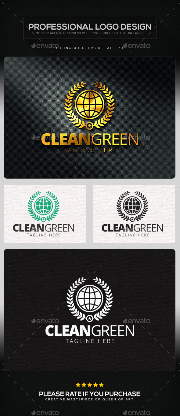GraphicRiver Clean Green Logo Template 11529777