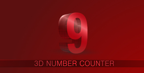 3D Number Counter Pack