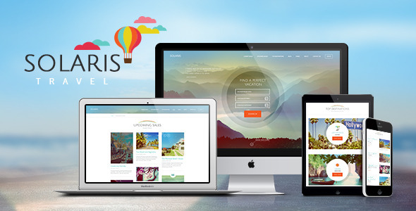 Solaris Travel Agency WordPress Theme