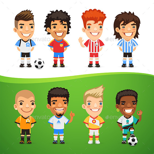 GraphicRiver Cartoon International Soccer Players Set 11529693