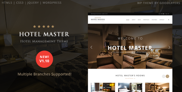 Hotel Master Hotel Booking WordPress Theme