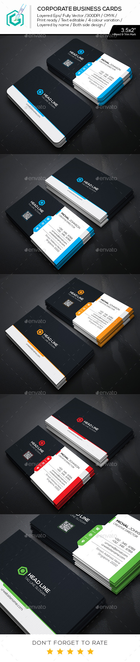 GraphicRiver Head Line Business Cards 11530225