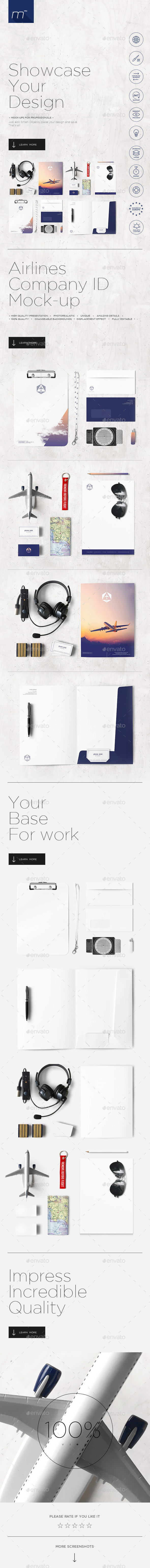 GraphicRiver Airlines Company Identity Mock-up 11530260