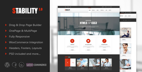 Stability Responsive MultiPurpose WordPress Theme