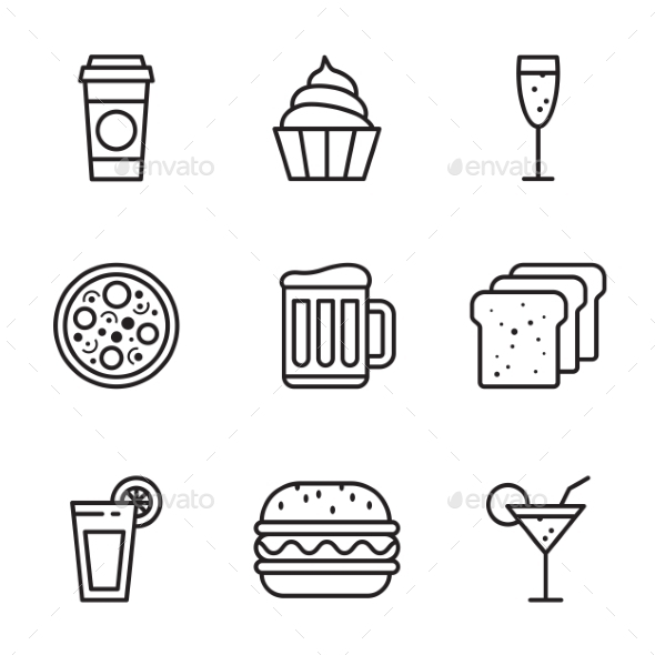 GraphicRiver Vector Food Icons Set 11530264