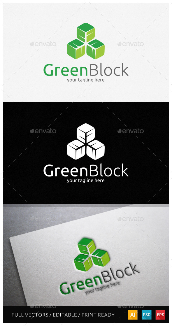 GraphicRiver Greenblock Logo Template 11530595