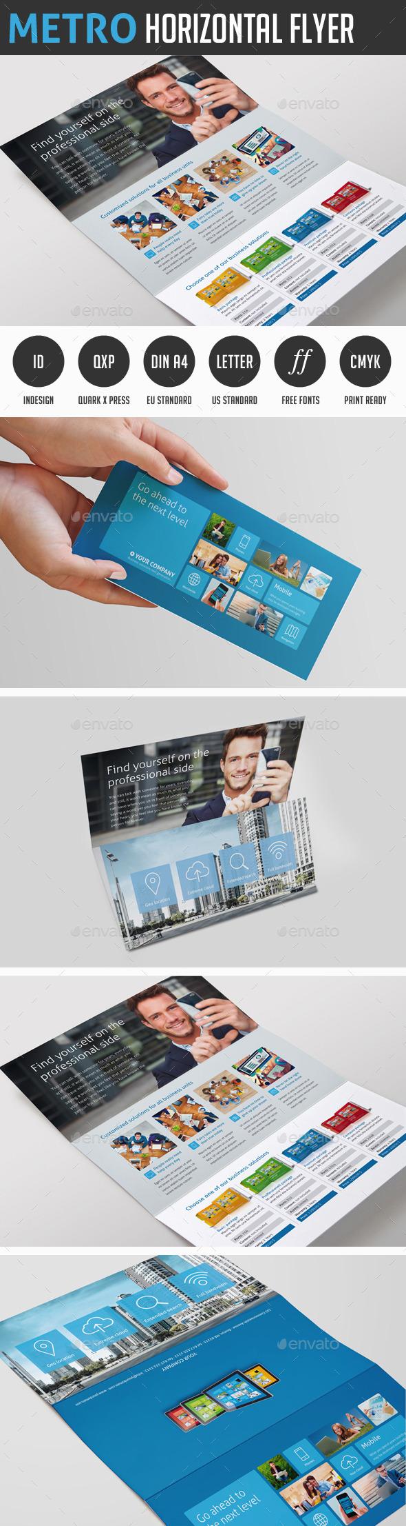 GraphicRiver Metro Horizontal Tri-fold 11530650
