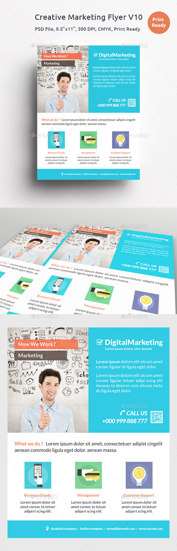 GraphicRiver Creative Marketing Flyer V10 11530938