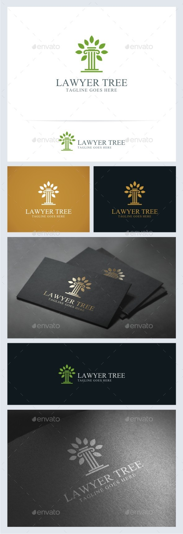 GraphicRiver Lawyer Tree Logo Template 11531008