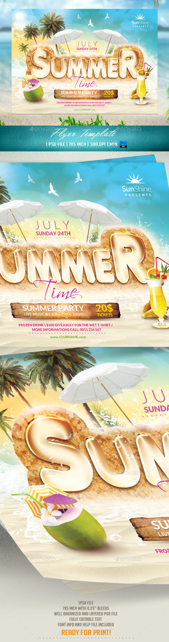 GraphicRiver Summer Time Flyer Template 11531016