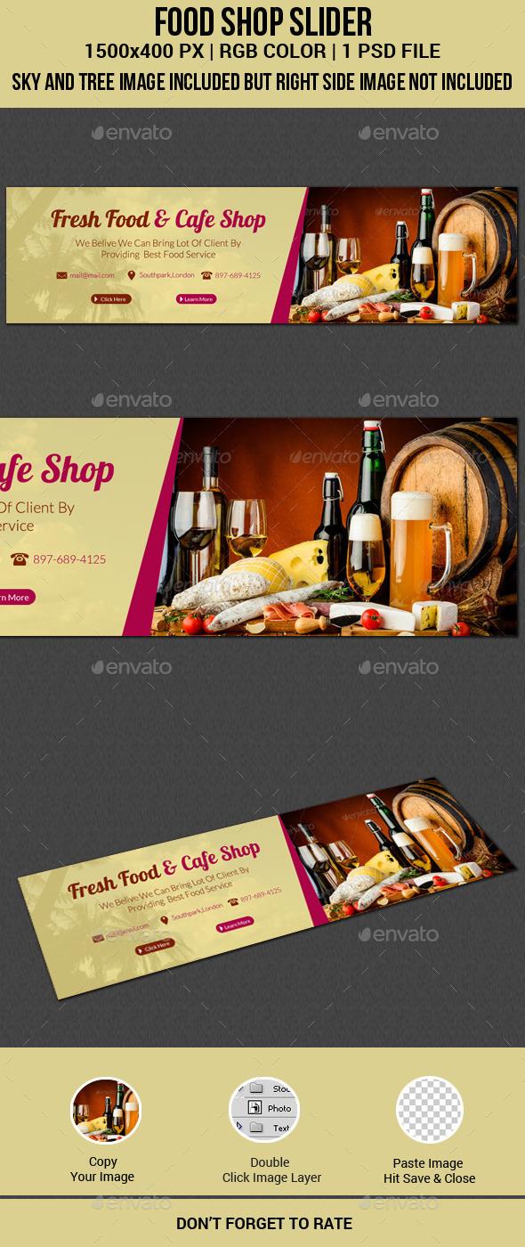 GraphicRiver Food Shop Slider 11531024