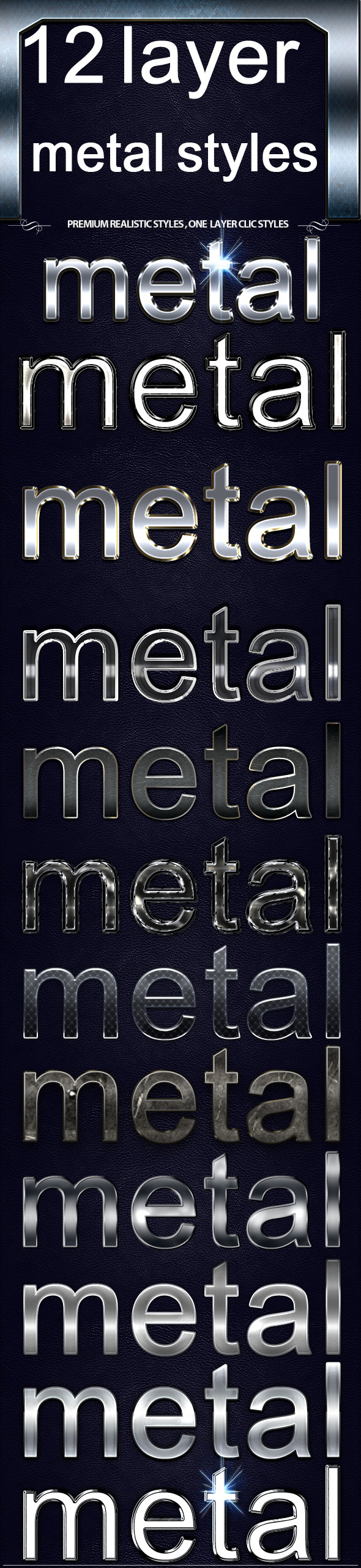 GraphicRiver 12 layre Metal Styles 11531122
