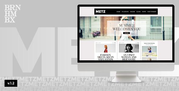 Metz - A Fashioned Editorial Magazine Theme