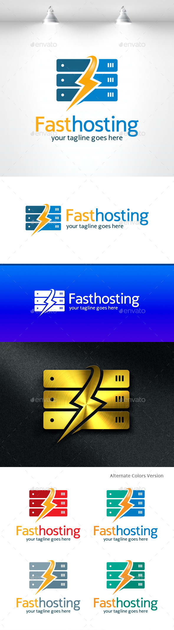 GraphicRiver Fast Hosting Logo 11531447