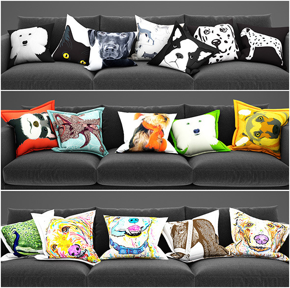 3DOcean Pillows animals 11531465