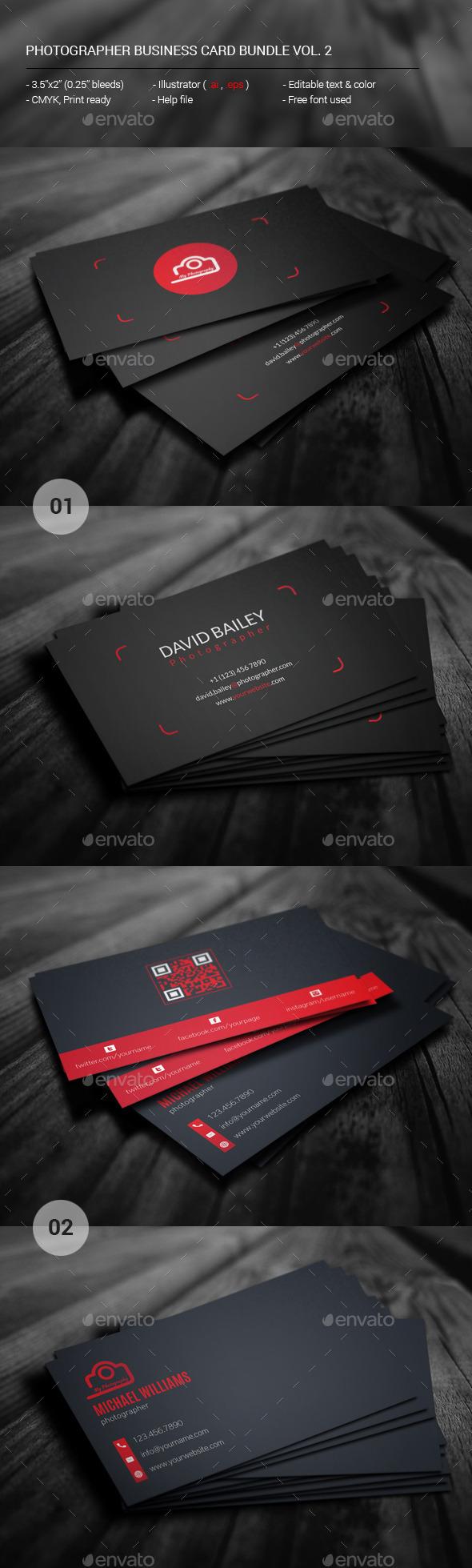 GraphicRiver Photographer Business Card Bundle Vol.02 11531515