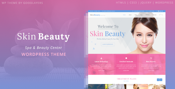 9 - Skin Beauty - Beauty | Spa | Salon WordPress Theme