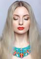 Beautiful blonde woman in bijouterie collar - PhotoDune Item for Sale