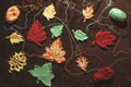 Knitted autumn leaves - PhotoDune Item for Sale