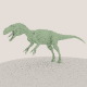 medium poly allosaurus dinosaur model - 3DOcean Item for Sale