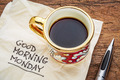 Good morning, Monday on napkin - PhotoDune Item for Sale
