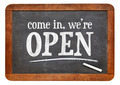 Come in, we are open blackboard sign - PhotoDune Item for Sale