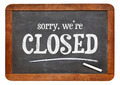 Sorry, we are closed blackboard sign - PhotoDune Item for Sale