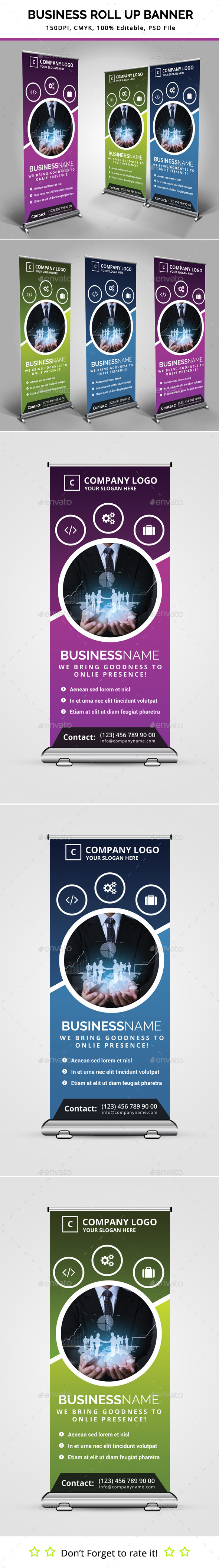 GraphicRiver Business Roll Up Banner V10 11531891