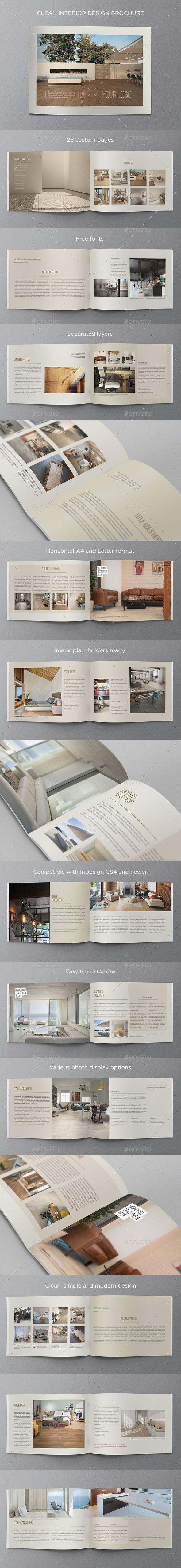 GraphicRiver Clean Interior Design Brochure 11531896