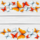 Red and White Butterflies on Wooden Background - GraphicRiver Item for Sale