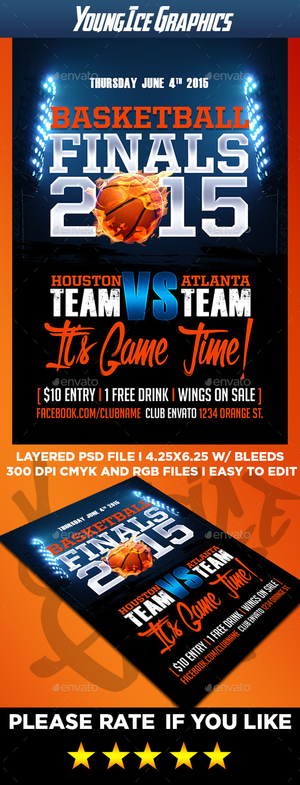 GraphicRiver Basketball Finals Flyer Template 11531991