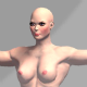 Nude Muscular Female - 3DOcean Item for Sale