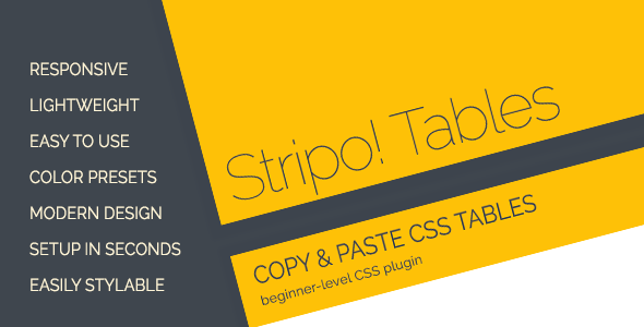 CodeCanyon Stripo Responsive Tables 11532283
