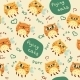 Pattern With Cute Abstract Flying Cats - GraphicRiver Item for Sale