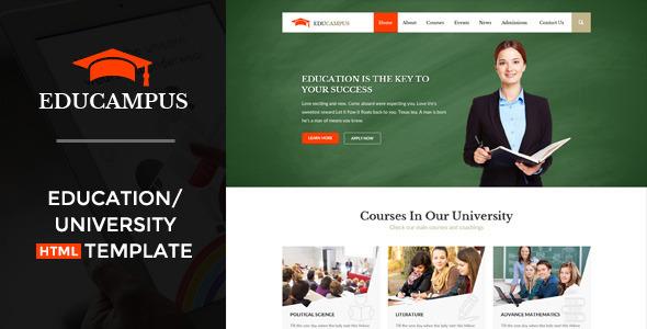ThemeForest Educampus Education & University HTML Template 11453628