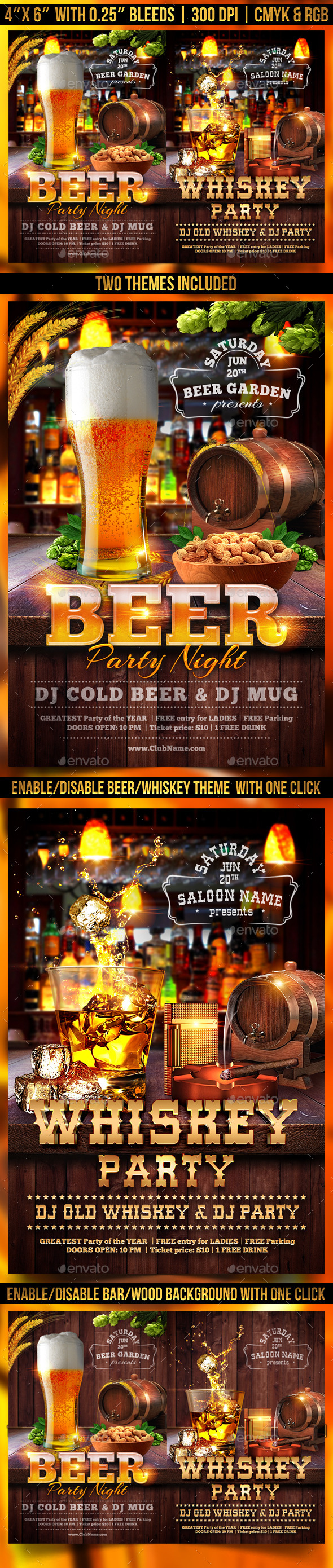 GraphicRiver Beer and Whiskey Flyer Template 11441026