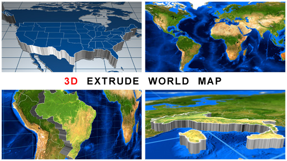 VideoHive 3D Extrude World Map 11532926