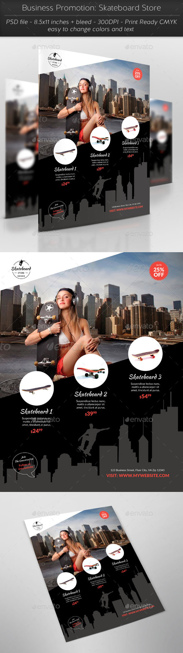 GraphicRiver Business Promotion Skateboard Store 11532953