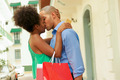 African American Couple Shopping With Credit Card Kissing - PhotoDune Item for Sale