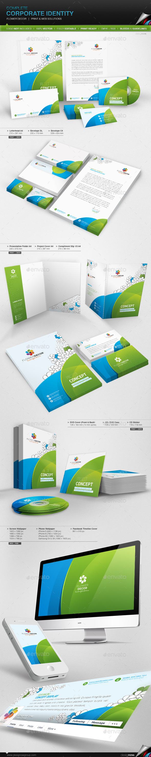 GraphicRiver Corporate Identity Flower Decor 11533201