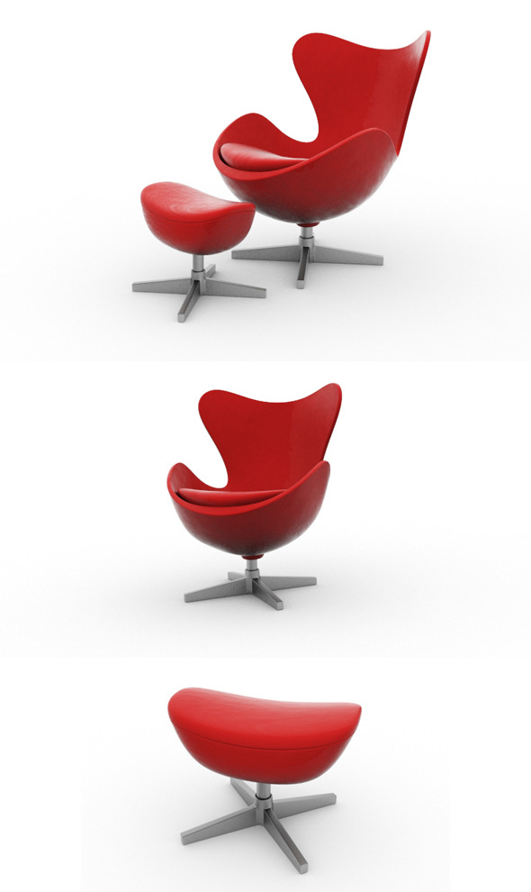 3DOcean Modern Lounge Chair with Table 11533230