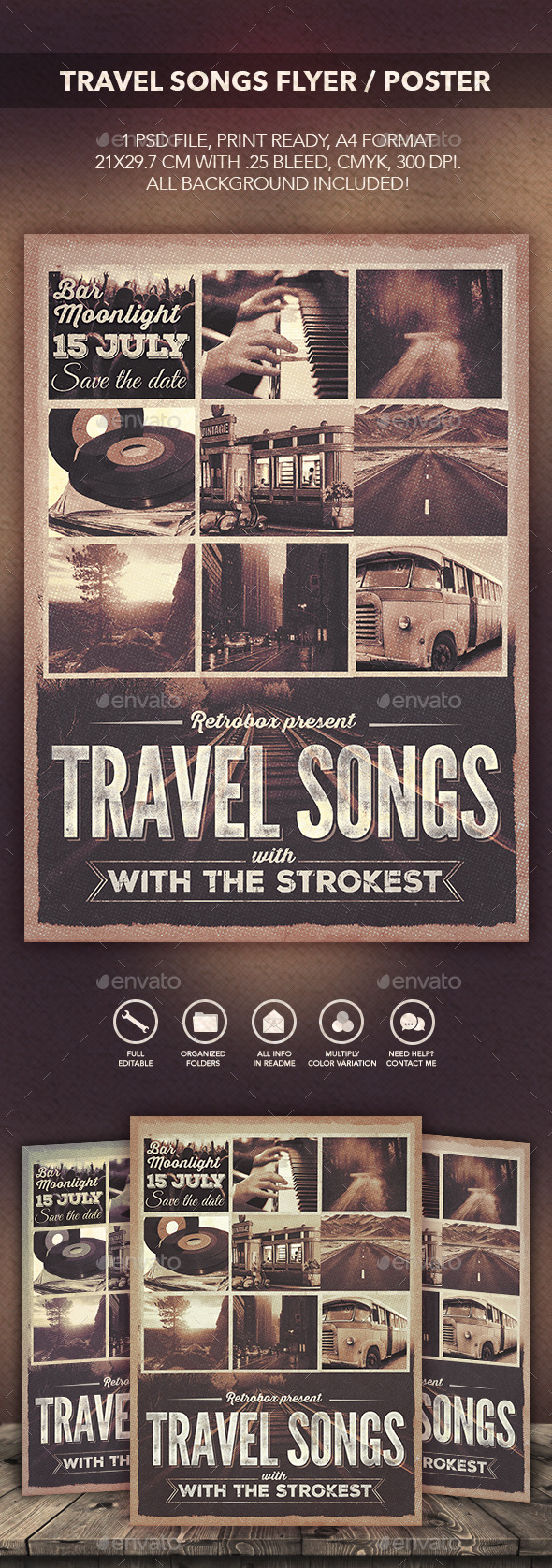 GraphicRiver Travel Songs Flyer Poster 11538538