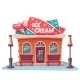 Vector Illustration Of Ice Cream Shop Building - GraphicRiver Item for Sale