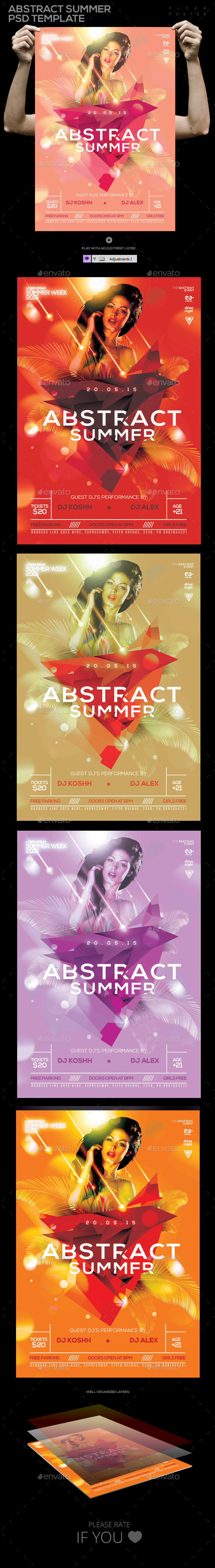 GraphicRiver Abstract Summer PSD Poster 11538622