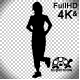 Running Woman Silhouette Front - VideoHive Item for Sale