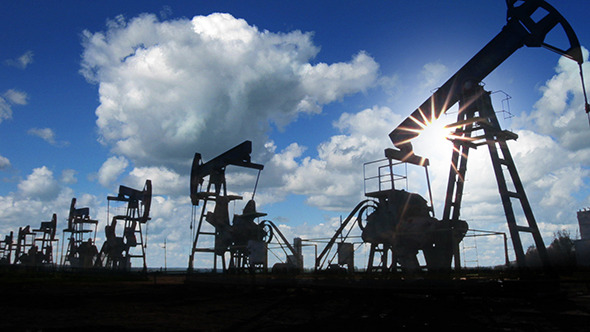 Working Oil Pumps Silhouette