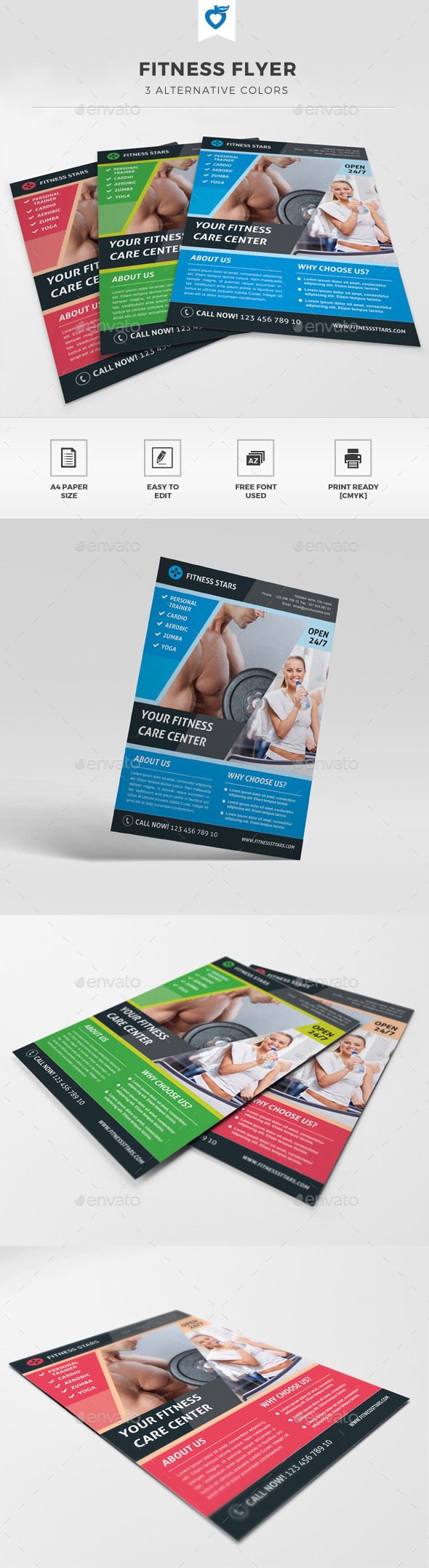 GraphicRiver Fitness Flyer 11538796