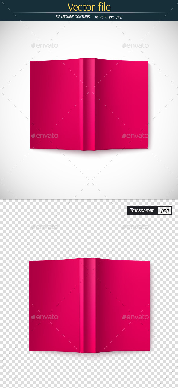 GraphicRiver Open Book Top View Template 11538816